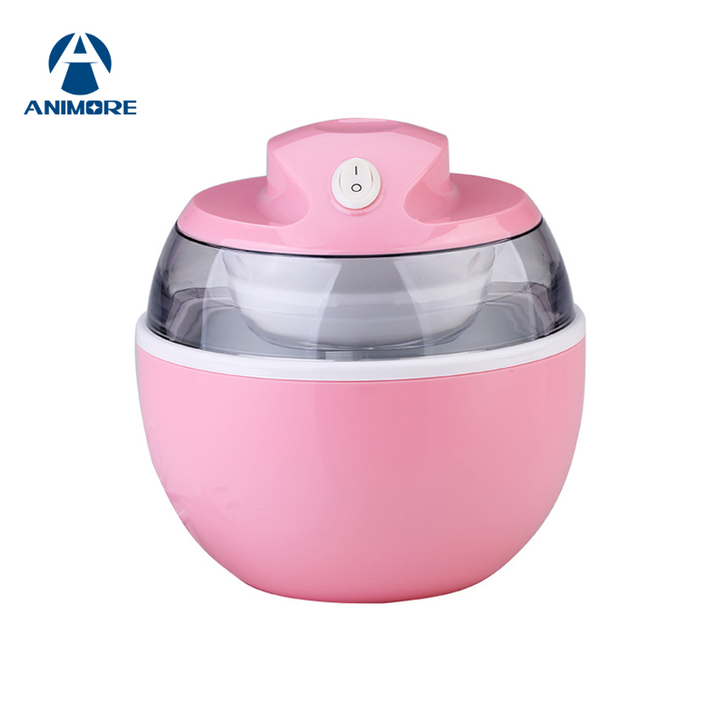 ANIMORE Mini Home Self-Cooling Ice Cream Maker Portable Automatic Soft Ice Cream Maker Machine Freezer Instant 15 Minitues IC-02 iodase staminal instant ice 150