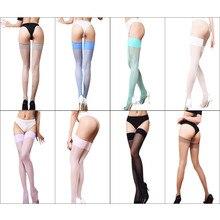 8 цветов, сексуальные черные, красные, синие, розовые, зеленые чулки до бедра, Женские однотонные чулки выше колена, длинные тонкие чулки без штанов
