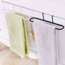 Kitchen Organizer Towel Rack Iron Hanging Holder Cupboard Cabinet Door Back Hanger Towel Sponge Holder Storage Rack for Bathroom