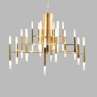 Modern LED Pendant Lights Gold Iron Pendant Lamp Home Lighting Fixtures Bedroom Living Room Acrylic Suspension Luminaire
