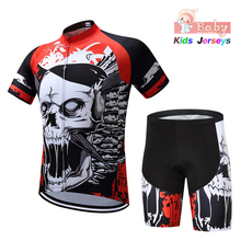 2019 Children Bike Clothing Cool Summer Boys Cycling Jersey Shorts 3D Gel Padded Breathable Quick Dry Pro Girl Kid Suits