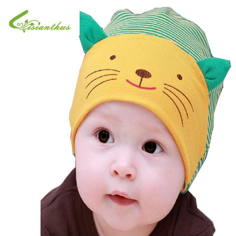 Kids Baby Boys Girls Hats Cotton Infant Cap Tie Up Beanie Stretchy Newborn Hat