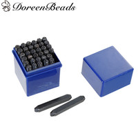 DoreenBeads 6mm Carbon Steel Number 0 9 Alphabet Letter A Z Punch Metal Stamping Tools