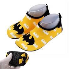 Быстросохнущая обувь унисекс; детские туфли для мальчиков; кроссовки; Желтые Спортивные кроссовки с Бэтменом для плавания; пляжная детская обувь; кроссовки для девочек и мальчиков