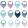 Unisex Baby Bandana Drool Adjustable Snaps Bibs For Drooling And Teething 4 Pack 100 Cotton Gift