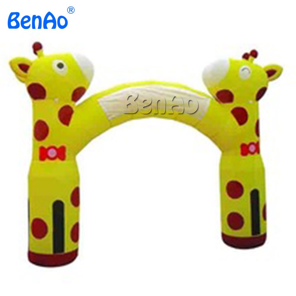R0162 Free shipping Newly Design lovely Giraffe Advertising Inflatable Entrance/Cheap giant advertising inflatable giraffe arch детские кроватки forest lovely giraffe качалка