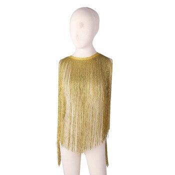 de51a35b41d8 CHENGBRIGHT 10 yardas de seda de oro brillante de la franja borla flecos  recorte Latina vestido de etapa Ropa Accesorios de encaje de cinta DIY