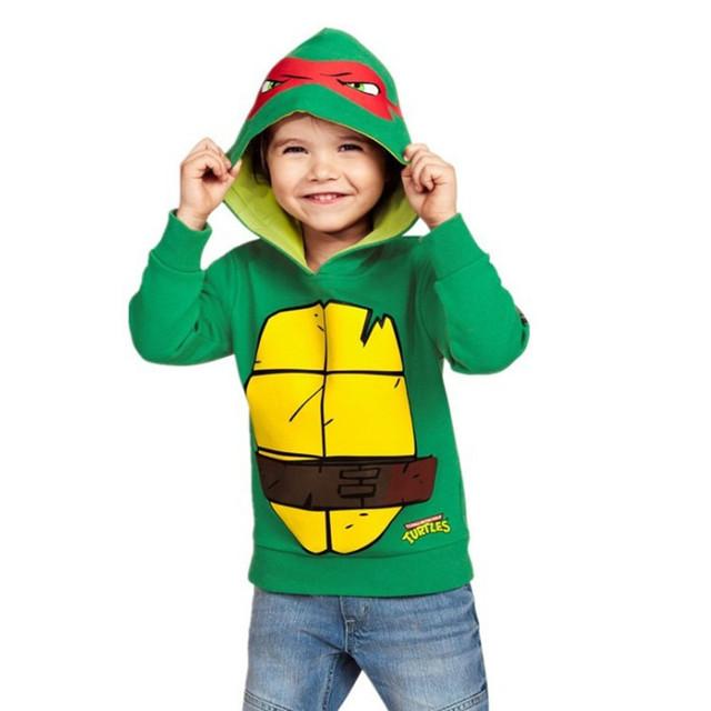 Pouco maven 2016 outono e inverno meninos Turtles Hoodies & Camisolas de lã de Algodão Quente Casacos roupa dos miúdos marca W044