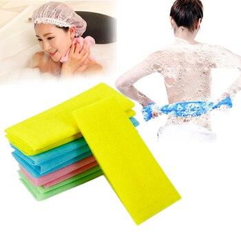 1pc  Nylon 30 x 90cm Bath Body Cleaning Towel Exfoliating Bath Shower Washing Scrubbing Towel Scrubbers Random Color Tool 1