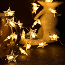 Star Light String 20led Copper Wire warm white  LED Holiday lighting Fairy Garland For Christmas Tree Wedding Party Decoration