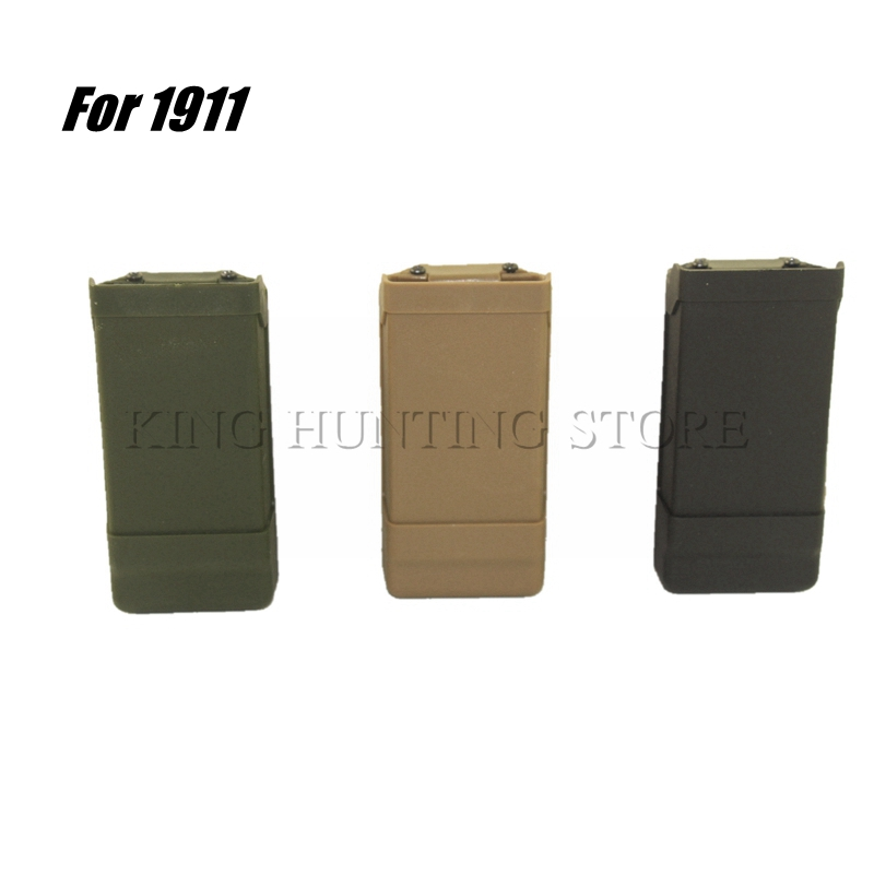 Airsoft Pouch 1911 Single Magazine Pouch Case Belt Clip Holder Duty Belt Holster Magazine Clip for 1911 Hunting Gun Accessories image