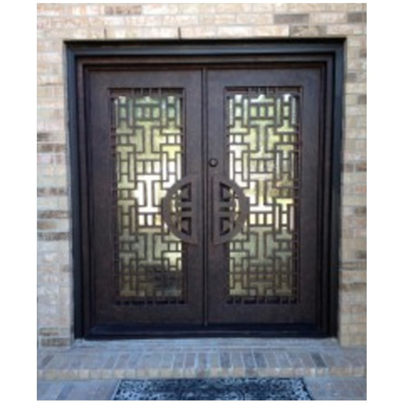 Hench 100% Steel Metal Iron  8 Panel Steel Exterior Doors Steel Door Design