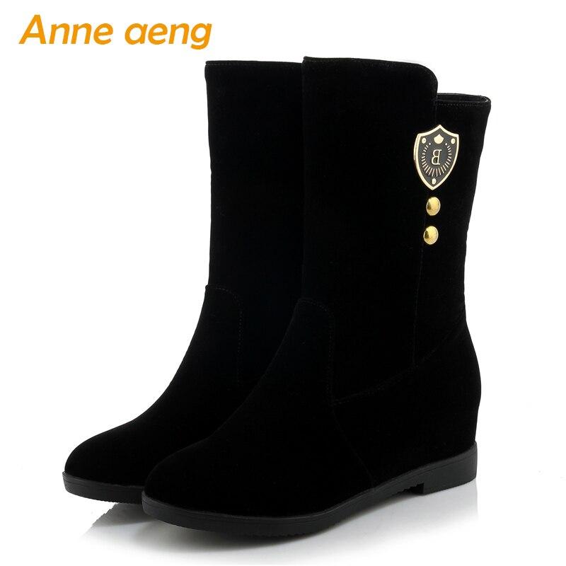 Cheville Femmes Grande Automne Zip 43 Hauteur Chaussures Sexy Neige Bottes Chaud Dames 33 5 Cm Noir Hiver Taille 2019 4 Croissante TpxBnxI
