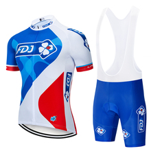 Factory Direct Sales! FDJ Cycling Jerseys suit Cycling clothing Quick Dry Cycling Breathable Cycling sportswear cheap Short Sleeve GEL Breathable Pad 100 Polyester Full 80 Polyester and 20 Stretch Spandex Jersey Sets Fits smaller than usual Please check this store s sizing info