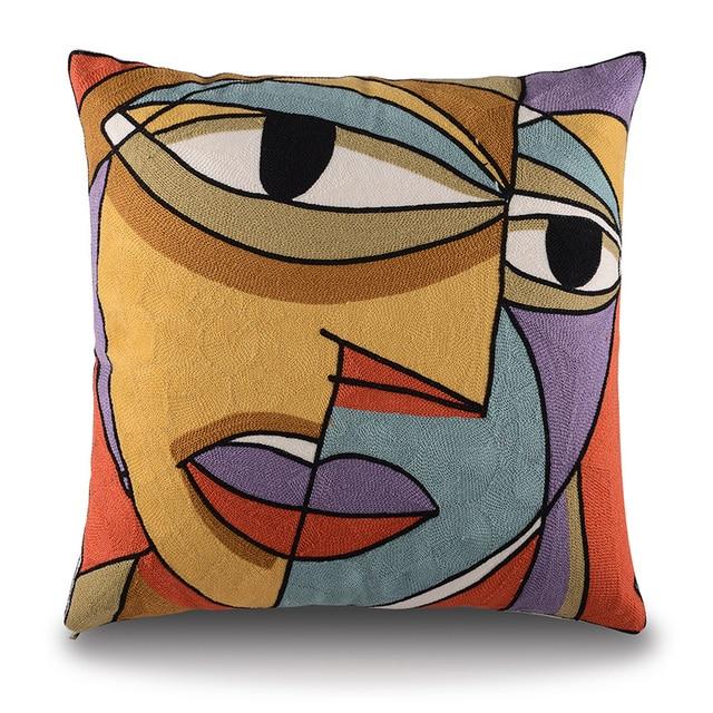 2015 Picasso ricamato Decorativo caso cuscini di Cotone Fodere per Cuscini Creat
