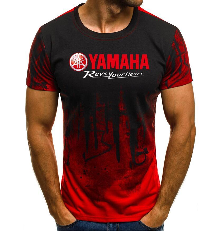 af3262c6c59 2019 de verano de marca de Nueva de la motocicleta de YAMAHA t camisa de los