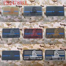 The Thin Blue Line DON'T TREAD ON ME America flag  Military Tactical Morale 3D PVC patch Snake St2