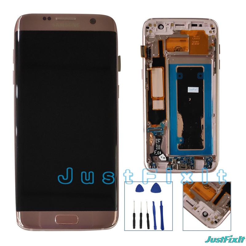 For Samsung Galaxy S7 Edge G935F G935FD Burn in Lcd Display Touch Screen Digitizer 5 5