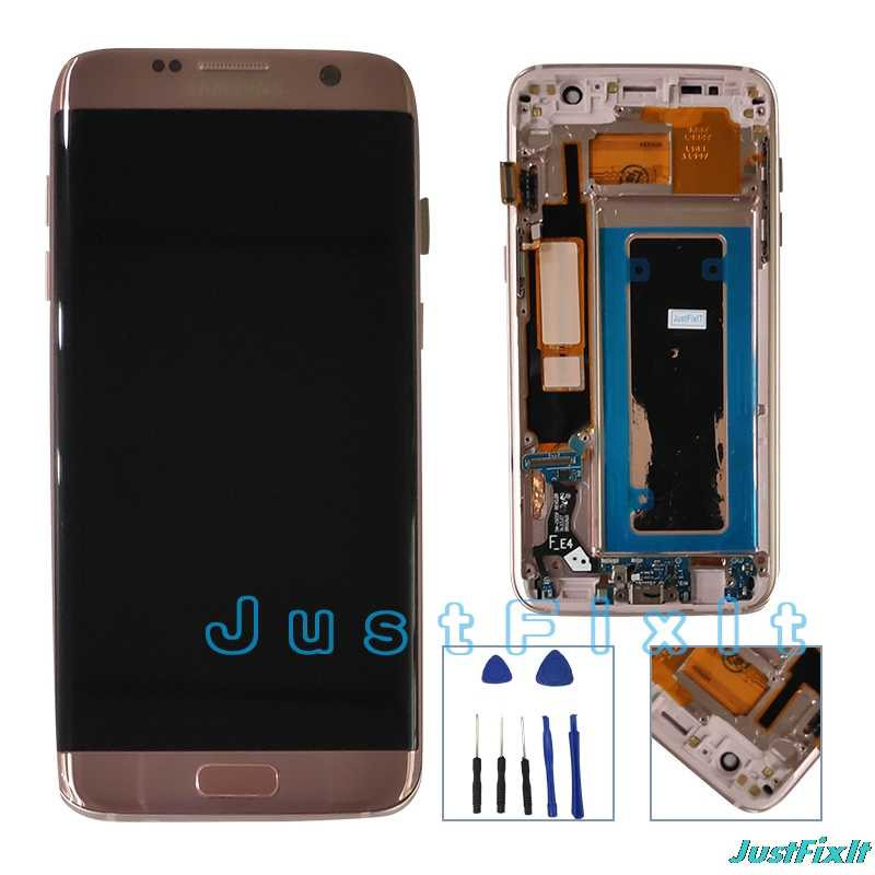 For Samsung Galaxy S7 Edge G935F G935FD Burn-in Lcd Display Touch Screen Digitizer 5.5'' Super AMOLED With Frame