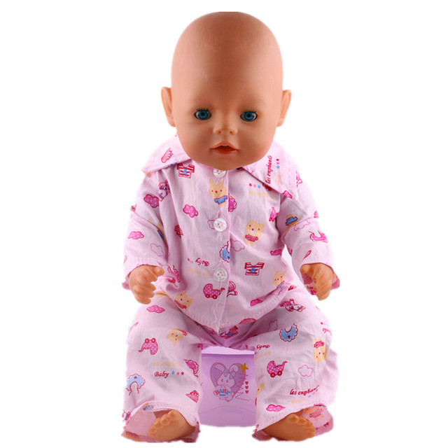 stylish winter style pajamas fit 43cm just born baby zapf dolls is
