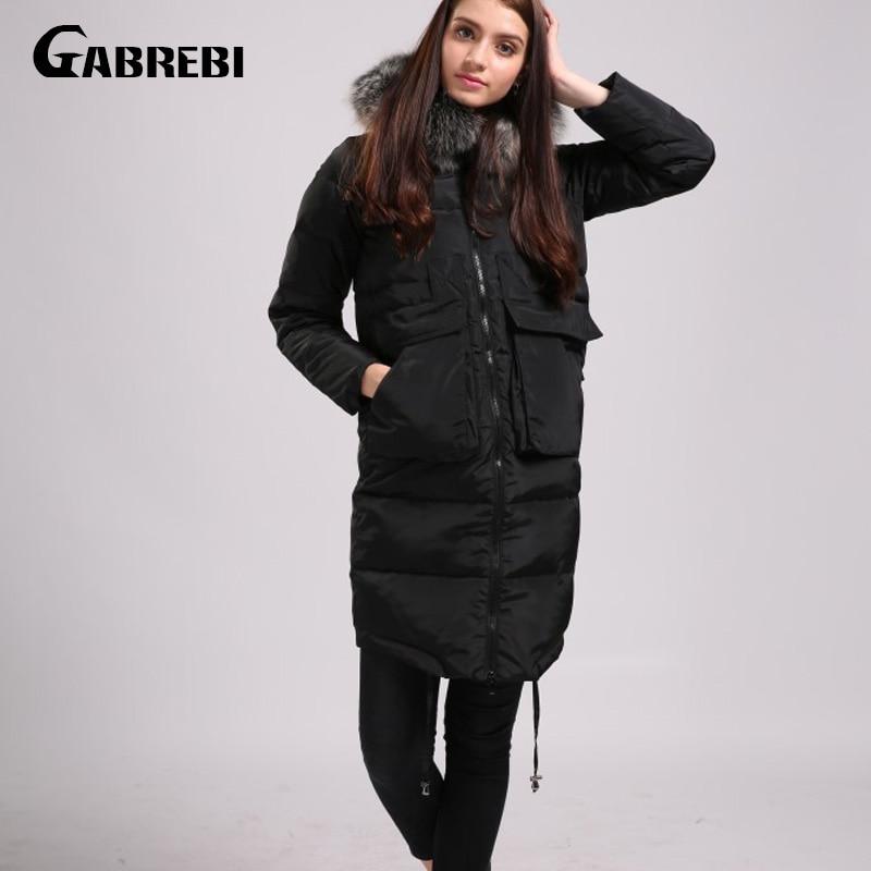 ФОТО GABREBI Women Down Coat Jacket Woman Down Parka Winter Coats 2017 New Arrivals Plus Size 4XL Winter Collection