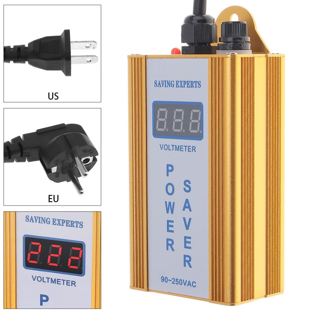 36KW 90-250 V Maison Intelligente Power Saver Box Smart LED Économie D'énergie dispositif Facture D'électricité Tueur jusqu'à 35% UE/US Plug