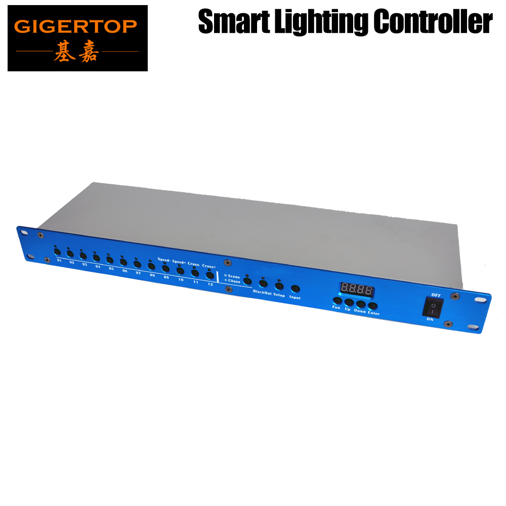 Freeshipping TP-D004P Smart Light Controller DMX 512 Program Recorder And Player Function Choose Speed Adjust Blue Housing Color