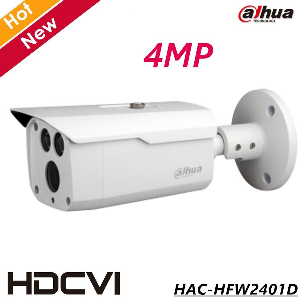 Dahua 4MP HDCVI WDR IR Bullet Camera Network Security Camera CCTV IR distance 80m HAC-HFW2401D CCTV Camera CCTY system dahua hdcvi 1080p bullet camera 1 2 72mp 1080p ir 80m ip67 hac hfw1200d security camera dhi hac hfw1200 bullet cvi camera