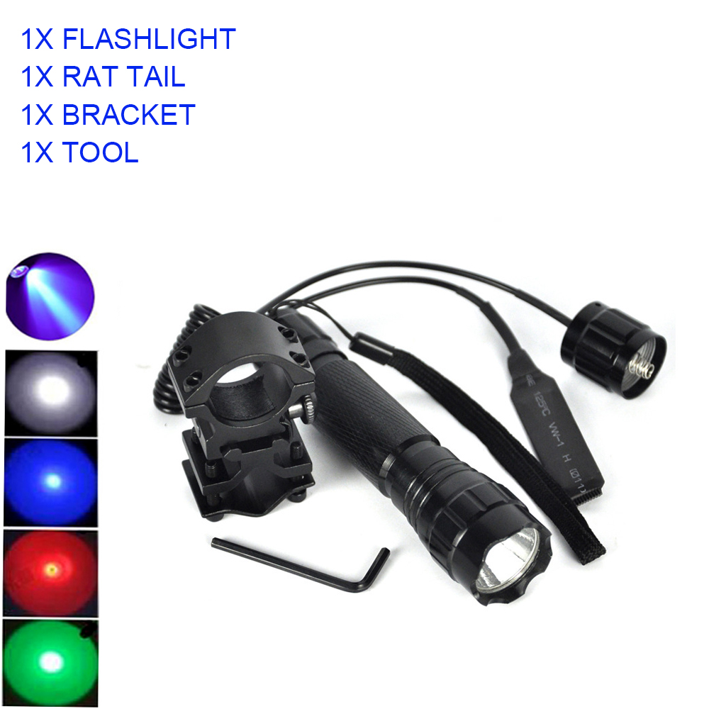 Ultrafire 501B XPE-Q5 Multi-color LED Tactical Flashlight Pressure Switch Torch Led 18650 Flashlight Lantern Led Luz Flash Light