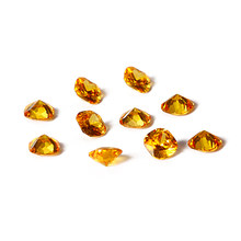 New Fashion Yellow Color 12x12MM Square Cut Citrine Stones 12.5ct Loose Gemstone Hotsale Jewelry Gifts 10 pcs/set Wholesale(China)