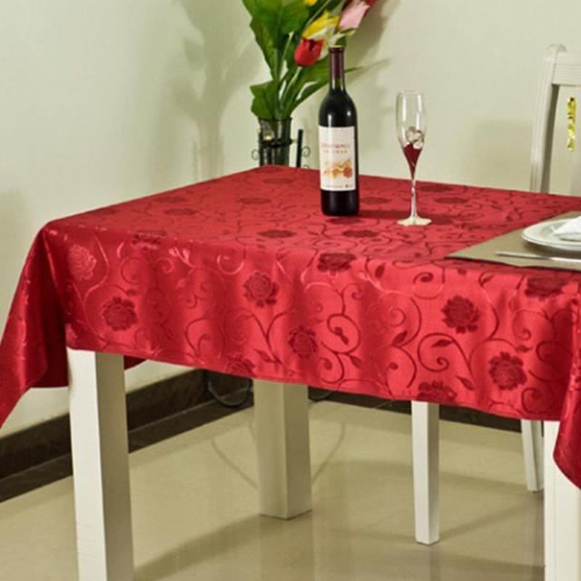 Christmas Square Printing Tablecloth Table Linen Decoration Glitter  Polyester Table Cloth Sparkle Linen
