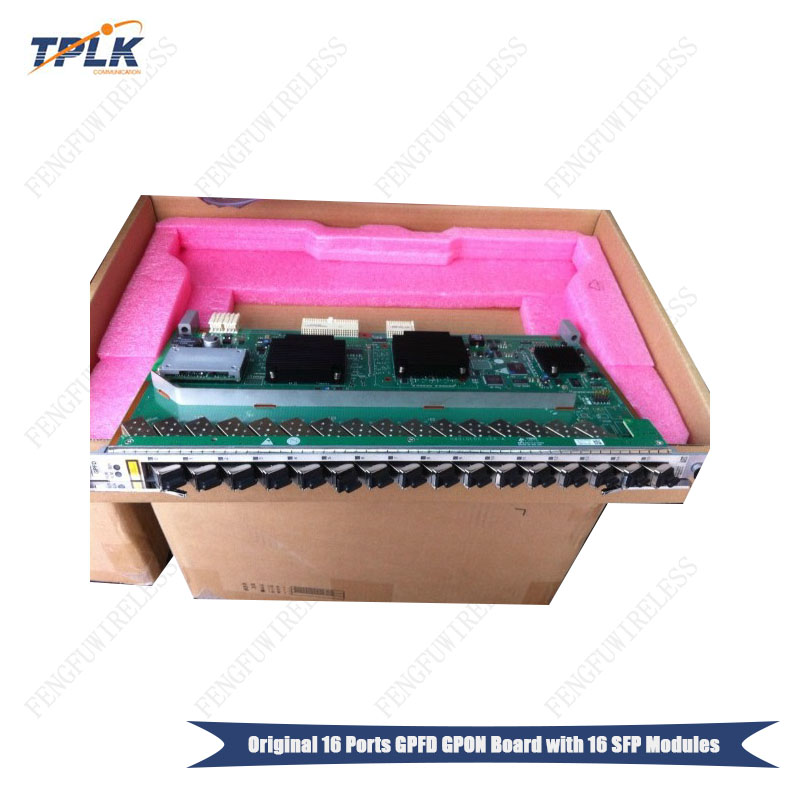 Persevering 2018 Hottest Wholesale Original New Hua Wei Ma5680t Ma5683t Olt 16 Ports Gpon Board Gpfd With 16 Sfp Modules Moderate Price Fiber Optic Equipments Cellphones & Telecommunications