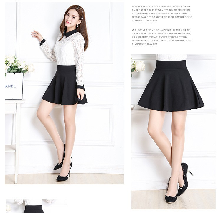 a998c0e33 New Style A-Line Skirt Women Short Skirts Summer and Spring Pleated Skirt  Womens Maternity Skirt with Pocket Falda. -2 01 02 03 04 05 ...
