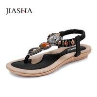Kadınlar nefes yaz ayakkabı 2017 sıcak kadın Sandalet ayakkabı moda dize boncuk kadın Sandalet
