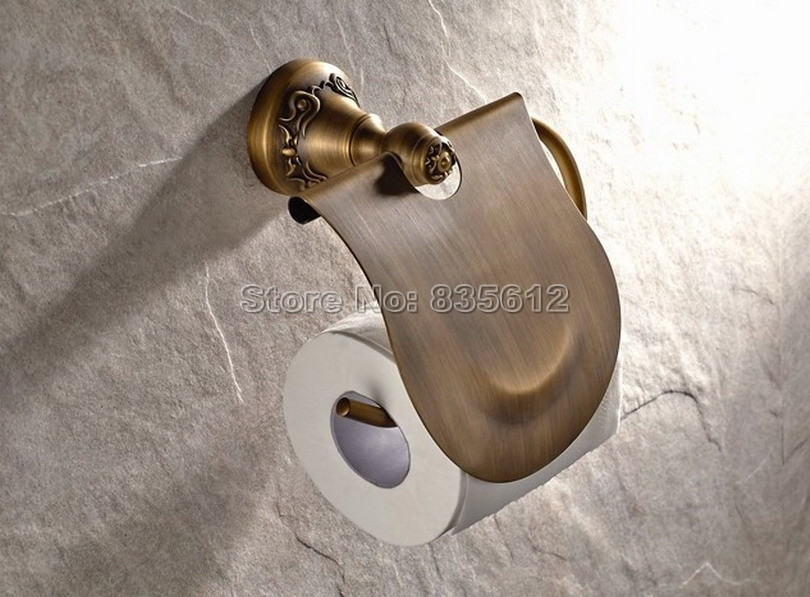 ФОТО Antique Brass Bathroom Toilet Paper Roll Holder Bathroom Fitting Wba421
