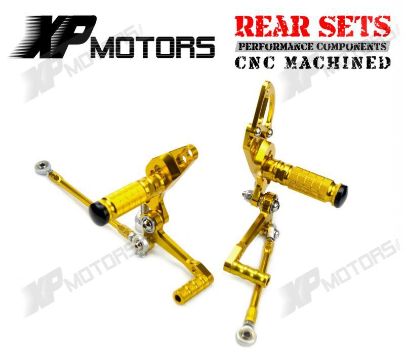 Motorcycle Gold Adjustable Foot Pegs Racing Foot Control Rear Sets For Ducati StreetFighter 1098 2009 2010 2011 2012