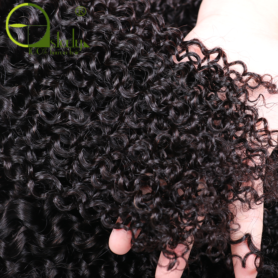 HTB1GQBPorSYBuNjSspfq6AZCpXaD Sterly Kinky Curly Bundles With Frontal Remy Human Hair Bundles With Closure Brazilian Hair Weave Bundles With Closure