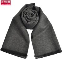 2016 New Fashion Warm Thicken Solid Colors Men Scarf Collar Winter Pure Cashmere Scarves Male Business