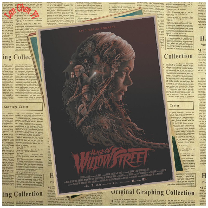 Horrible movie From a House on Willow Street Kraft Paper Poster Office Gift Room Dining Home Decor wall sticker Design