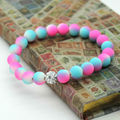 2014 New Arrival! 8mm Fluorescent Neon Beads Infinity Cheap Bracelet! Stretch Bracelets Handcraft Jewelry