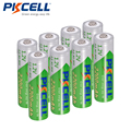 8Pcs/PKCELL AA Battery NIMH 1.2V 2200mAh Ni-MH 2A 1.2 Volt Low Self-discharge Durable AA Rechargeable Batteries Bateria Baterias