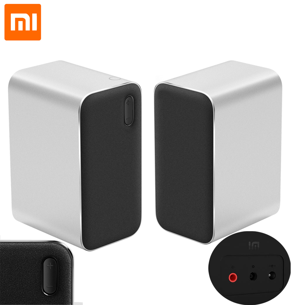 Xiaomi Original Bluetooth Computer Speaker 12W 2.4GHz Double Bass Basin Stereo Portable Aux DSP With Microphone LED IndicatorXiaomi Original Bluetooth Computer Speaker 12W 2.4GHz Double Bass Basin Stereo Portable Aux DSP With Microphone LED Indicator
