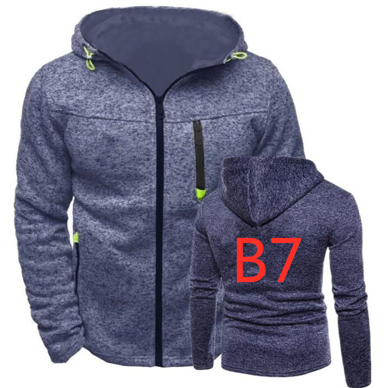 B7 For Men's Brand Print Logo Custom Hoodies Man Harajuku Hip Hop Zipper Coat MC Sportswear Male Pullover Hooded Sweatshirts TOP