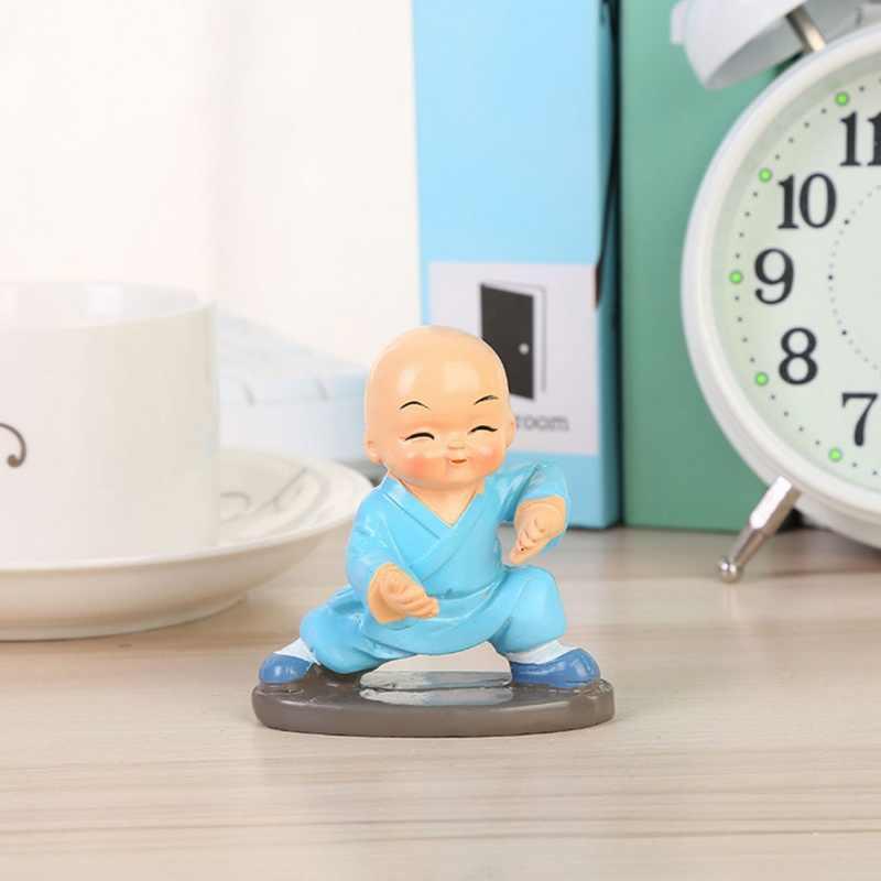 4 шт./компл. украшение автомобиля мультфильм Kungfu маленький монах форма куклы смолы ремесла приборной панели окна стола дома автомобиля аксессуары