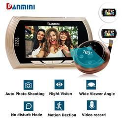 """YB-43AHD-M 4,3 """"HD Цвет Экран Smart дверной звонок просмотра цифровой дверной глазок просмотра Камера дверь глаз Запись видео ИК ночного видения"""