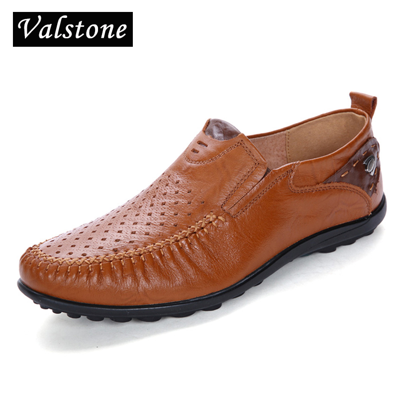 Valstone Daily leather shoes Men Breathable hollowed upper 2018 - Men's Shoes - Photo 1