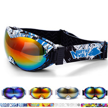 New Snowboard Ski Goggles Double Lens Anti-fog Big Spherical Professional Motocross Ski Glasses Unisex Multicolor Snow Goggles