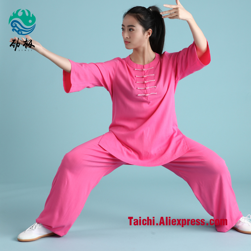 Handmade Linen Tai Chi Uniform Wushu, Kung Fu,martial Art Suit,women And Man,green,pink,orange,blue,white,black