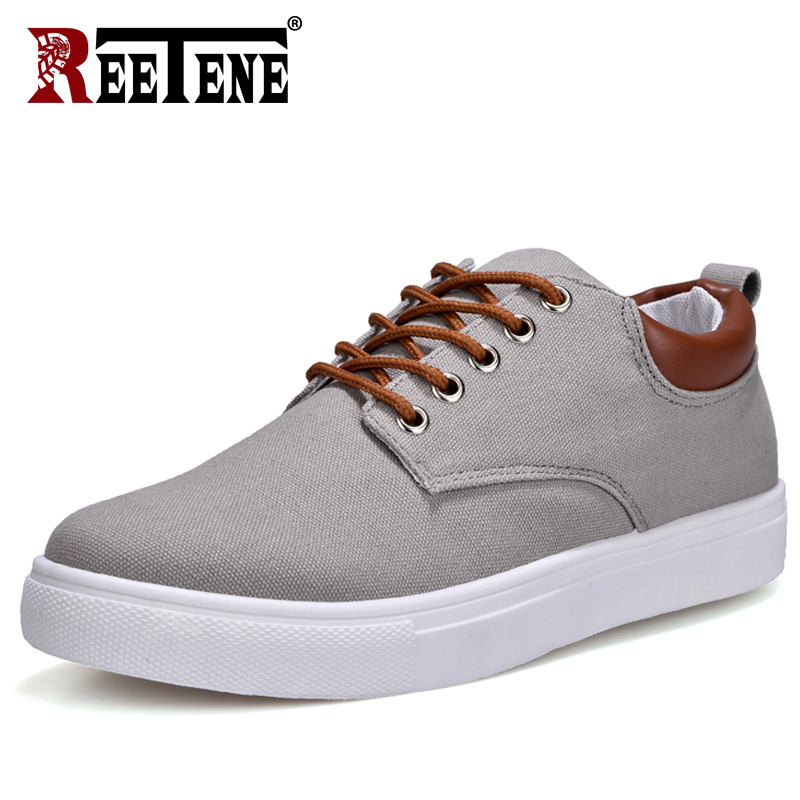 REETENE Automne Casual Chaussures Hommes Toile De Mode Chaussures Hommes Chaussures 2018 Comfotable Lacent Casual Hommes Chaussures Zapatos De Invierno