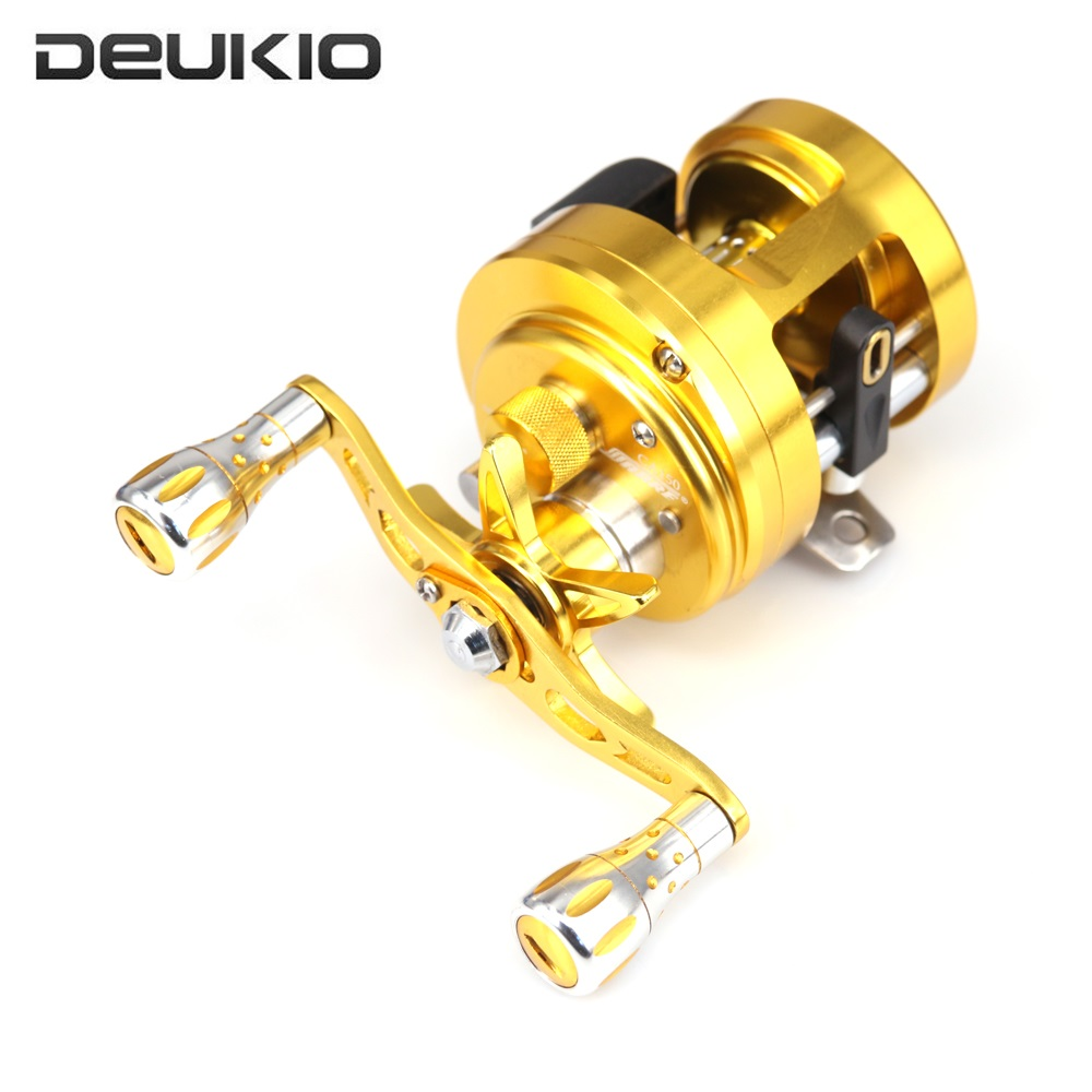 DEUKIO Metal Fishing Reel CNC Finishing 11+1 BB Stainless Steel Bait Casting Sea Fishing Reel Spinning Wheel for Pesca CA100-300 триммер philips hc1091 15 белый серый